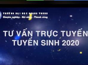 """Trường Đại học Quang Trung tổ chức """"tư vấn tuyển sinh trực tuyến 2020"""" lần 1"""